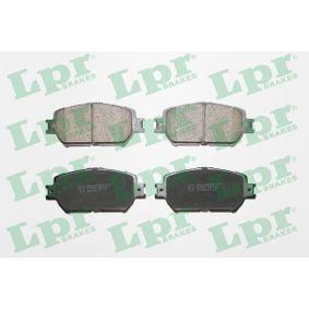 Bremsbelagsatz, Scheibenbremse Breite: 131,5mm, Höhe: 58,7mm, Dicke/Stärke: 17mm mit OEM-Nummer 04465-33250