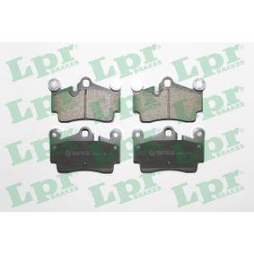LPR Bremsbelagsatz, Scheibenbremse 05P1362 für AUDI Q7 (4L) 3.0 TDI ab Baujahr 11.2007, 240 PS