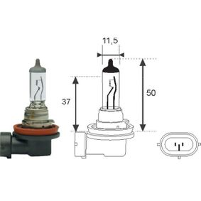 Bulb, spotlight H8 12V 35W PGJ-19-1 002547100000 VW TOURAN (1T1, 1T2)