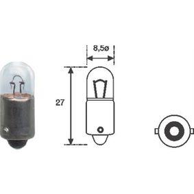 Bulb, indicator T4W, BA9s, 12V, 4W 002893100000 MERCEDES-BENZ E-Class, 124-Series, 190