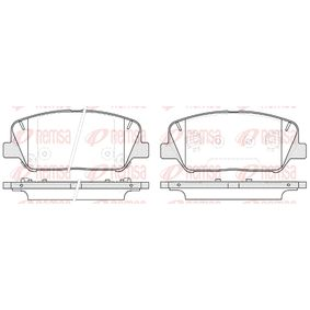 Brake Pad Set, disc brake Height: 60mm, Thickness: 17,8mm with OEM Number 583024WA10(-)