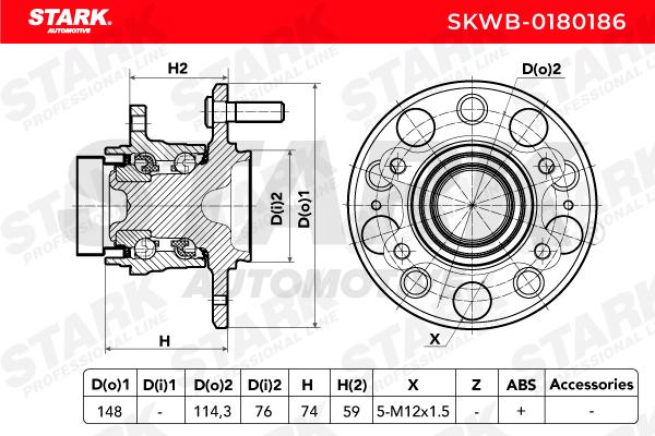 Hub Bearing STARK SKWB-0180186 expert knowledge