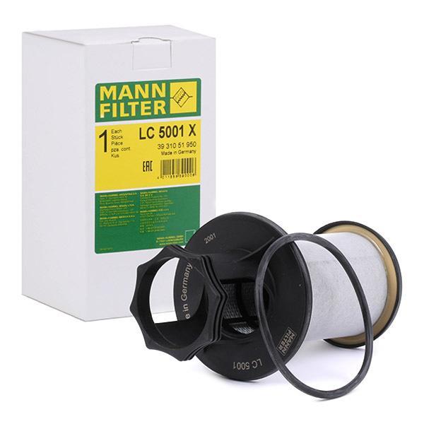 Filtro, ventilación bloque motor MANN-FILTER LC5001x conocimiento experto
