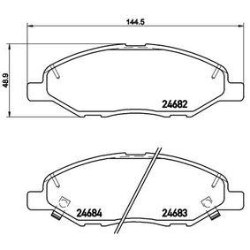 2009 Nissan Note E11 1.4 Brake Pad Set, disc brake P 56 088