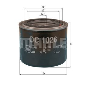 Ölfilter Ø: 82,0mm, Ø: 82,0mm, Höhe: 72mm mit OEM-Nummer 15410MB0003