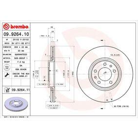 Bremsscheibe Bremsscheibendicke: 22mm, Lochanzahl: 5, Ø: 302mm mit OEM-Nummer 96 879 907 80