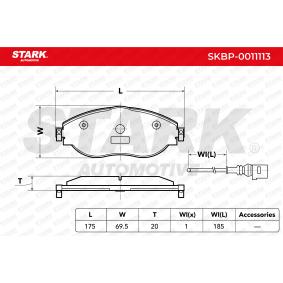 Brake Pad Set, disc brake Article № SKBP-0011113 £ 140,00