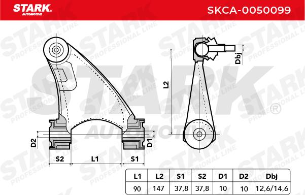 Achslenker STARK SKCA-0050099 4059191291373
