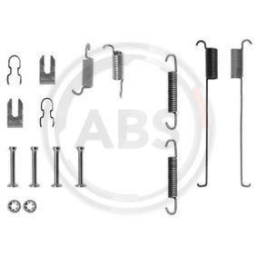 Accessory Kit, brake shoes 0739Q PUNTO (188) 1.2 16V 80 MY 2006