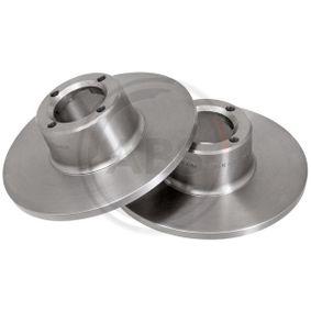 Bremsscheibe Bremsscheibendicke: 9,5mm, Felge: 4-loch, Ø: 213,0mm mit OEM-Nummer 21 A 2612