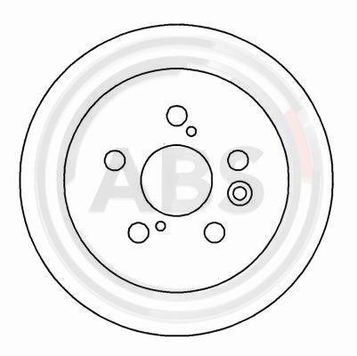 A.B.S.  15990 Disque de frein Epaisseur du disque de frein: 10mm, Jante: 5Trou, Ø: 269mm