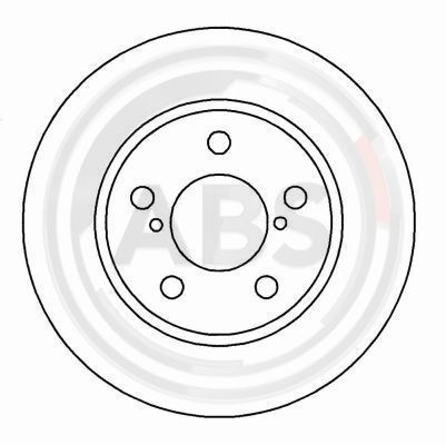 A.B.S.  16138 Bremsscheibe Bremsscheibendicke: 24mm, Felge: 5-loch, Ø: 260mm
