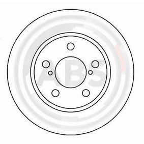 Bremsscheibe Bremsscheibendicke: 24mm, Felge: 5-loch, Ø: 260mm mit OEM-Nummer 26300AE090