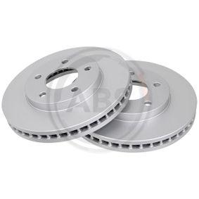 A.B.S.  16351 Bremsscheibe Bremsscheibendicke: 32,5mm, Felge: 5-loch, Ø: 278,0mm