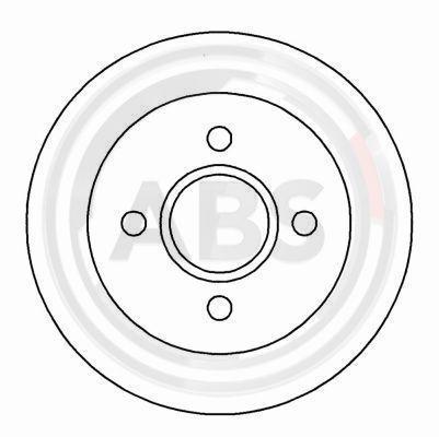 A.B.S.  16375 Bremsscheibe Bremsscheibendicke: 10,3mm, Felge: 4-loch, Ø: 253mm
