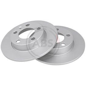 Bremsscheibe Bremsscheibendicke: 8,9mm, Felge: 5-loch, Ø: 230mm mit OEM-Nummer 2Q0615601H