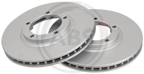 A.B.S.  17035 Bremsscheibe Bremsscheibendicke: 24mm, Felge: 5-loch, Ø: 254mm