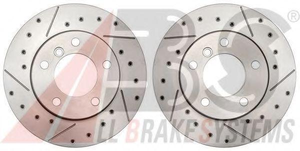 A.B.S. BREMBO BEARING DISC LINE 17600S Bremsscheibe Bremsscheibendicke: 22mm, Felge: 5-loch, Ø: 284mm