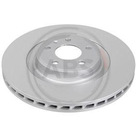Brake Disc Brake Disc Thickness: 29,5mm, Rim: 5-Hole, Ø: 345mm with OEM Number 8K0 615 301 Q