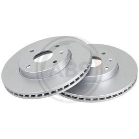Bremsscheibe Bremsscheibendicke: 24mm, Felge: 4-loch, Ø: 278mm mit OEM-Nummer 96 329 364
