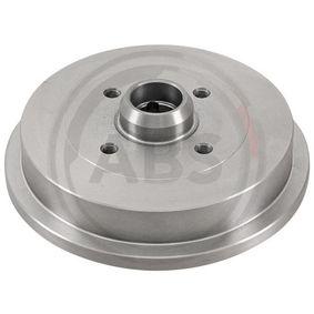 Bremstrommel Br.Tr.Durchmesser außen: 240,0mm, Felge: 4-loch mit OEM-Nummer 1H0 501 615 A