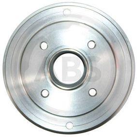 Bremstrommel Br.Tr.Durchmesser außen: 208mm, Felge: 4-loch mit OEM-Nummer 6001 548 126