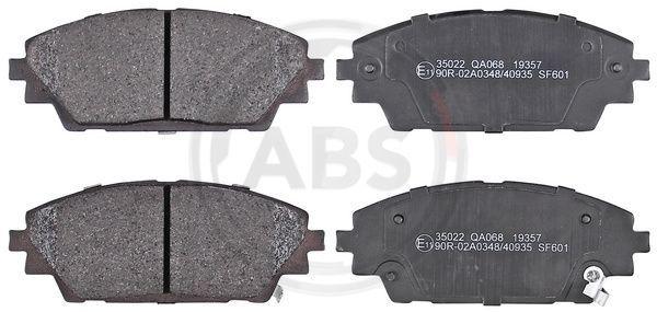A.B.S.  35022 Brake Pad Set, disc brake Width 1: 142mm, Height 1: 55,7mm, Thickness 1: 15,8mm