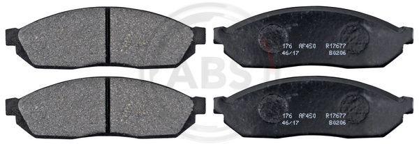 A.B.S.  36156 Bremsbelagsatz, Scheibenbremse Breite 1: 119mm, Höhe 1: 38mm, Dicke/Stärke 1: 15,5mm