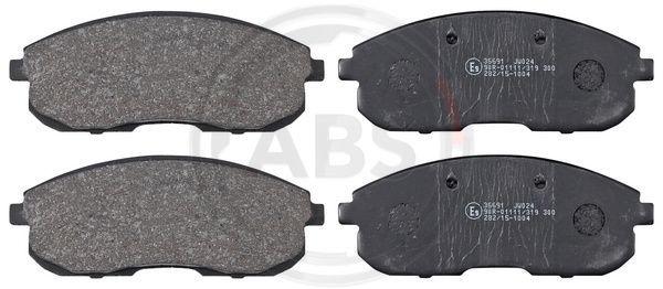 A.B.S.  36691 Bremsbelagsatz, Scheibenbremse Breite 1: 137,2mm, Höhe 1: 53,2mm, Dicke/Stärke 1: 17,0mm