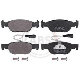 Brake Pad Set, disc brake 36892 PUNTO (188) 1.2 16V 80 MY 2000