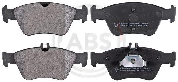 A.B.S.  36903 Bremsbelagsatz, Scheibenbremse Breite 1: 150mm, Breite 2: 151,2mm, Höhe 1: 61mm, Höhe 2: 66,2mm, Dicke/Stärke 1: 19,8mm
