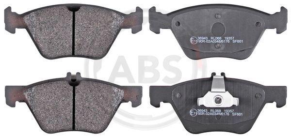 A.B.S.  36943 Bremsbelagsatz, Scheibenbremse Breite 1: 156,4mm, Höhe 1: 64mm, Höhe 2: 69,5mm, Dicke/Stärke 1: 20,0mm