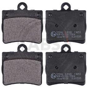 Bremsbelagsatz, Scheibenbremse Breite 1: 63,7mm, Höhe 1: 63,4mm, Dicke/Stärke 1: 15mm mit OEM-Nummer A 002 420 5120