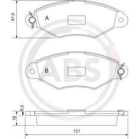 Bremsbelagsatz, Scheibenbremse Breite 1: 131mm, Höhe 1: 47,6mm, Dicke/Stärke 1: 18,0mm mit OEM-Nummer 425205