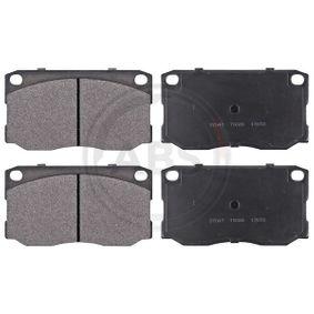 Bremsbelagsatz, Scheibenbremse Breite 1: 139,5mm, Höhe 1: 76mm, Dicke/Stärke 1: 18,5mm mit OEM-Nummer 58101-5HA30