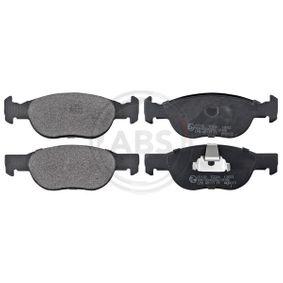 Brake Pad Set, disc brake 37132 PUNTO (188) 1.2 16V 80 MY 2004