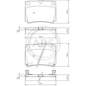 Kit pastiglie freno, Freno a disco 37284 Pajero Sport 1 SUV (K7_, K9_) 2.5 TD ac 2014