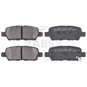 2008 Nissan Qashqai j10 1.5 dCi Brake Pad Set, disc brake 37321