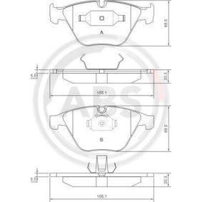 Bremsbelagsatz, Scheibenbremse Breite 1: 155mm, Breite 2: 155,1mm, Höhe 2: 68,5mm, Dicke/Stärke 2: 20,3mm mit OEM-Nummer 34116794916