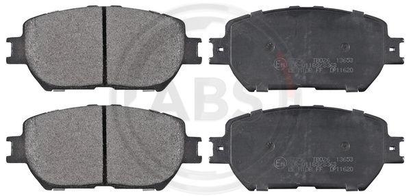 A.B.S.  37356 Bremsbelagsatz, Scheibenbremse Breite 1: 131,5mm, Höhe 1: 58,4mm, Dicke/Stärke 1: 17,3mm
