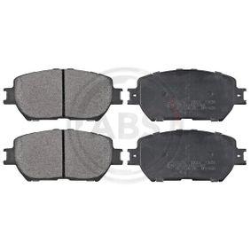 Bremsbelagsatz, Scheibenbremse Breite 1: 131,5mm, Höhe 1: 58,4mm, Dicke/Stärke 1: 17,3mm mit OEM-Nummer 04465 33250
