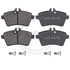Brake Pad Set, disc brake Width 1: 116,6mm, Height 1: 63,8mm, Thickness 1: 19mm with OEM Number 169 420 1320