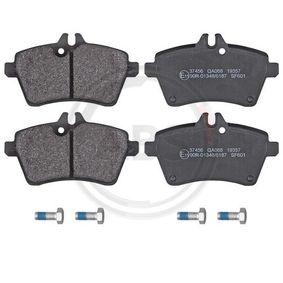 2005 Mercedes W169 A 180 CDI 2.0 (169.007, 169.307) Brake Pad Set, disc brake 37456