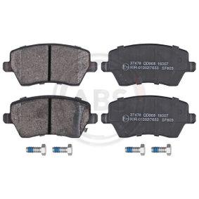 Bremsbelagsatz, Scheibenbremse Breite 1: 116,3mm, Höhe 1: 52,4mm, Dicke/Stärke 1: 17,3mm mit OEM-Nummer 93192962