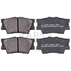 A.B.S.  37545 Bremsbelagsatz, Scheibenbremse Breite 1: 96,5mm, Höhe 1: 49,0mm, Dicke/Stärke 1: 15,4mm