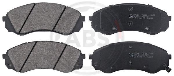 A.B.S.  37618 Bremsbelagsatz, Scheibenbremse Breite 1: 164,7mm, Höhe 1: 63,5mm, Dicke/Stärke 1: 17,5mm