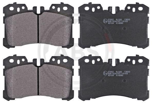 A.B.S.  37652 Bremsbelagsatz, Scheibenbremse Breite 1: 133,5mm, Höhe 1: 87,5mm, Dicke/Stärke 1: 18mm