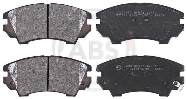 A.B.S.  37683 Brake Pad Set, disc brake Width 1: 142mm, Height 1: 66,7mm, Thickness 1: 19,1mm