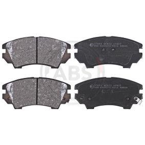 Bremsbelagsatz, Scheibenbremse Breite 1: 142mm, Höhe 1: 66,7mm, Dicke/Stärke 1: 19,1mm mit OEM-Nummer 95 520 061