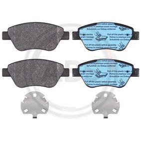 Bremsbelagsatz, Scheibenbremse Breite 1: 123mm, Höhe 1: 53,3mm, Dicke/Stärke 1: 17,8mm mit OEM-Nummer 7 736 489 3